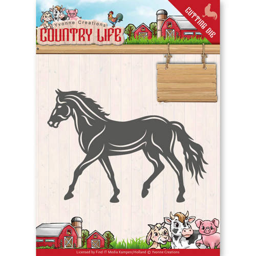 YCD10127 Dies - Yvonne Creations - Country Life Horse