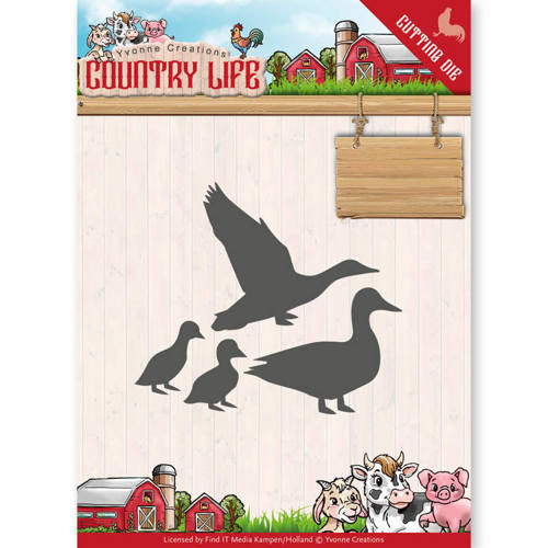 YCD10126 Dies - Yvonne Creations - Country Life Ducks