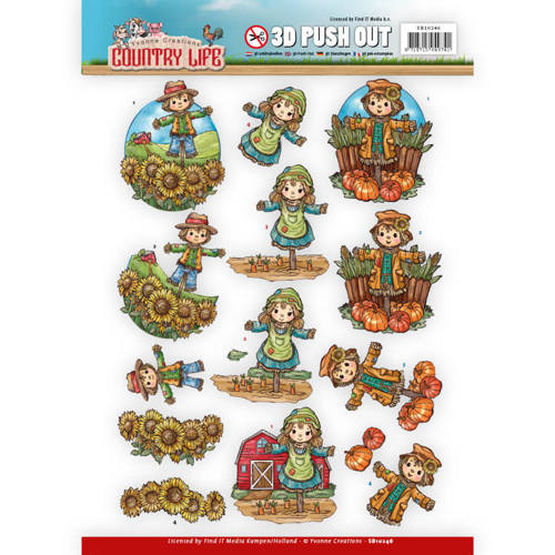 SB10246 Push Out - Yvonne Creations Country Life Scarecrow