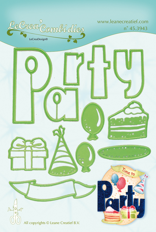 Lea'bilitie® Party combi cut and embossing die