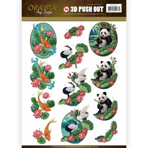 SB10250 Push Out - Amy Design - Oriental - Animals