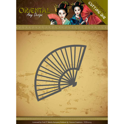 ADD10145 Dies - Amy Design Oriental - Chinese Fan