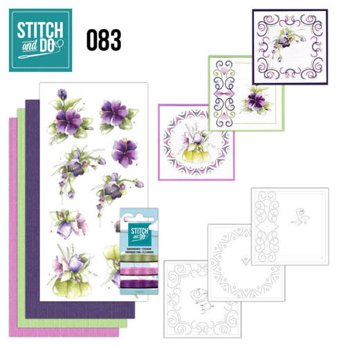 STDO083 Stitch and Do 83 - Purple Flowers