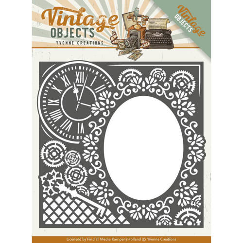 YCD10132 Dies - Yvonne Creations - Vintage Objects - Endless Times Frame