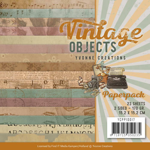 YCPP10017 Paperpack - Yvonne Creations - Vintage Objects