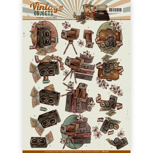CD11106 3D Knipvel - Yvonne Creations - Vintage Objects - Vintage Cameras