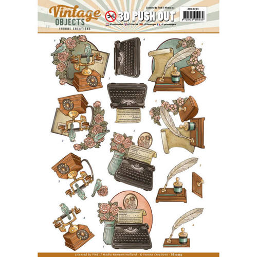 SB10255 Push Out - Yvonne Creations - Vintage Objects - Vintage Communication