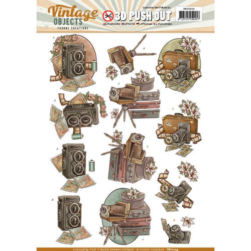 SB10254 Push Out - Yvonne Creations - Vintage Objects - Vintage Cameras