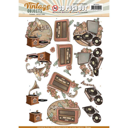SB10253 Push Out - Yvonne Creations  - Vintage Objects - Vintage Music