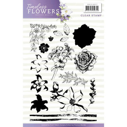 PMCS10027 Clearstamp - Precious Marieke - Timeless Flowers