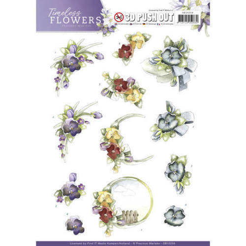 SB10259 Push Out - Precious Marieke - Timeless Flowers - Violets