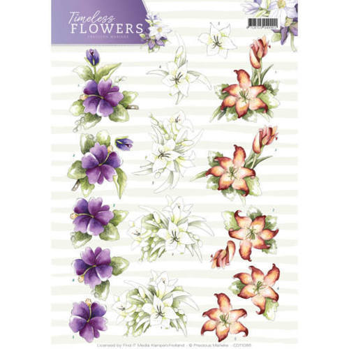 CD11085 3D Knipvel - Precious Marieke - Timeless Flowers - Lillies