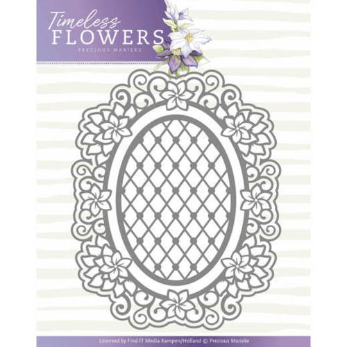 PM10119 Dies - Precious Marieke - Timeless Flowers - Clematis Oval