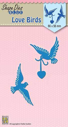 SDB038 Shape Dies blue Love birds