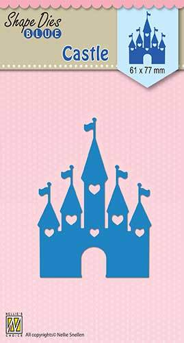 SDB040 Shape Dies blue Easter Castle