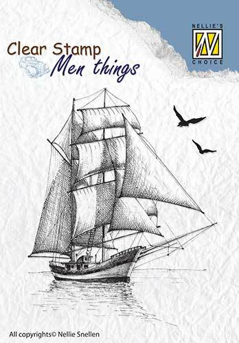 CSMT008 Clear stamps Men Things Sailingboat-2