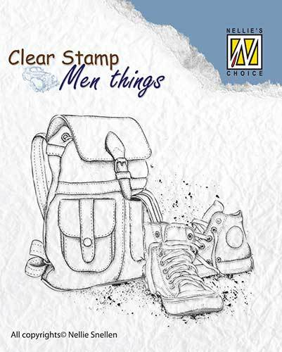 CSMT009 Clear stamps Men Things Backpack & shoes