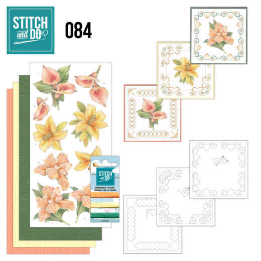 STDO084 Stitch and Do 84 - Yellow Flowers
