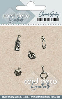 CDECH001 Card Deco Essentials - Charms Welcome Baby