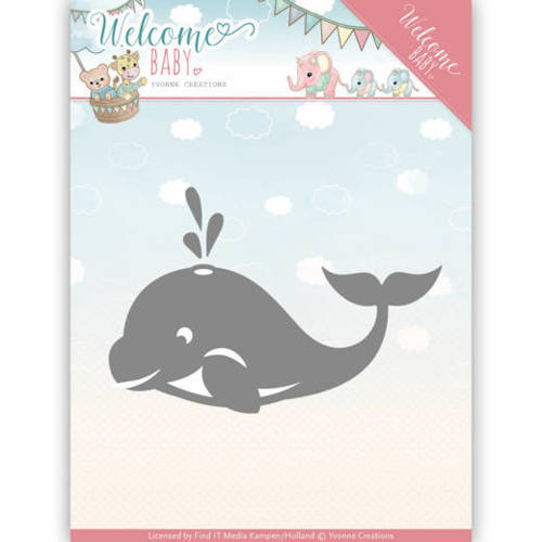 YCD10139 Dies - Yvonne Creations - Welcome Baby - Little Orca
