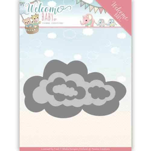 YCD10137 Dies - Yvonne Creations - Welcome Baby - Nesting Clouds