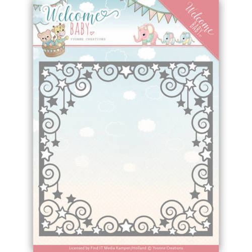 YCD10135 Dies - Yvonne Creations - Welcome Baby - Star Frame