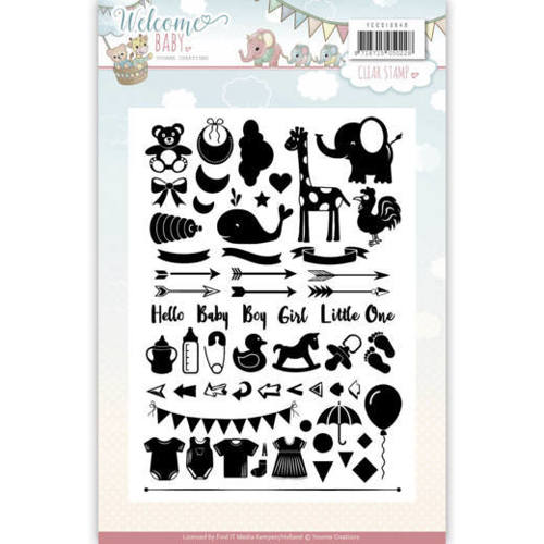 YCCS10040 Clearstamp - Yvonne Creations - Welcome Baby
