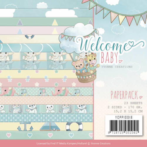 YCPP10018 Paperpack - Yvonne Creations - Welcome Baby