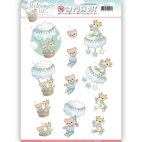 SB10264 3D Pushout - Yvonne Creations - Welcome Baby - In The Air