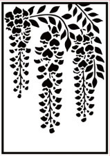 HSF021 Embossing Folder Wisteria