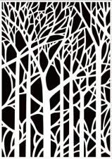 HSF022 Embossing Folder backgrounds Trees