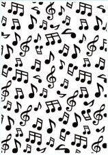 HSF024 Embossing Folder backgrounds musical notes