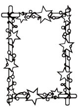 HSFC006 Embossing Folder Christmas rectangle starry frame