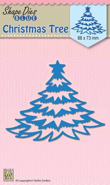 SDB056 Shape Dies Blue Christmas tree