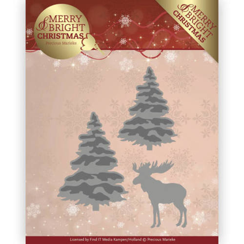 PM10131 Dies - Precious Marieke - Merry and Bright Christmas - Forest