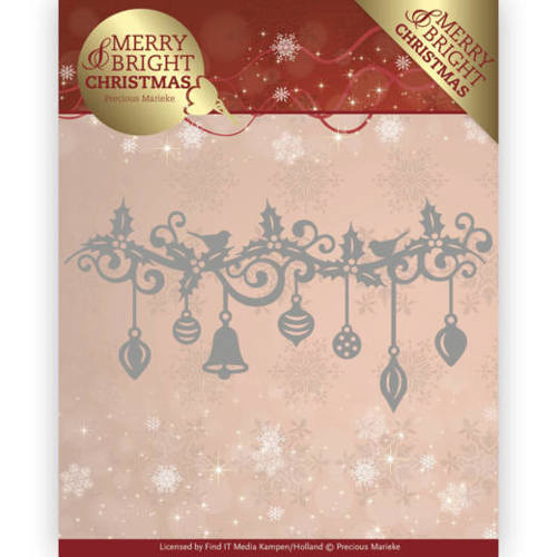 PM10128 Dies - Precious Marieke - Merry and Bright Christmas - Christmas Garland