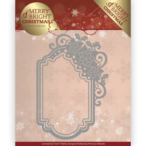 PM10127 Dies - Precious Marieke - Merry and Bright Christmas - Poinsettia Ornament