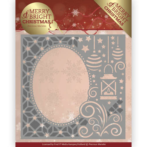 PM10125 Dies - Precious Marieke - Merry and Bright Christmas - Lantern Frame