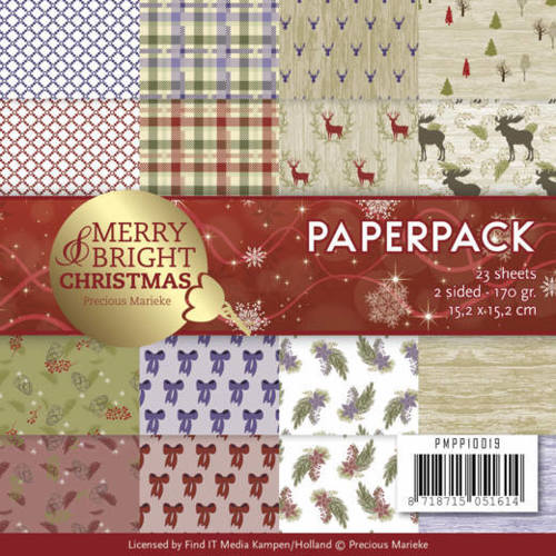 PMPP10019 Paperpack - Precious Marieke - Merry and Bright Christmas