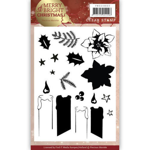 PMCS10032 Clear Stamp - Precious Marieke - Merry and Bright Christmas - Candle