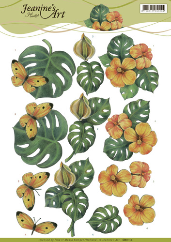CD11110 3D knipvel - Jeanine's Art - Monstera