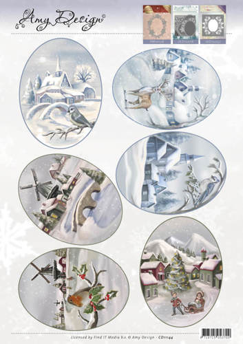 CD11144 3D Topper - Amy Design - Winter Landscapes