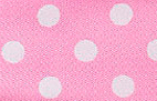 SR1203-06 Satin white Polka Dots 38mm 20mtr light pink/white dots