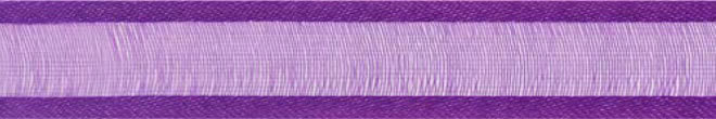 SR1206/1031 Organzalint met satijn rand 10mm 25mtr (31) purple