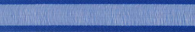SR1206/1032 Organzalint met satijn rand 10mm 25mtr (32) royalblue