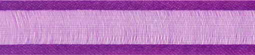 SR1206/1531 Organzalint met satijn rand 15mm 25mtr (31) purple