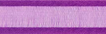 SR1206/2531 Organzalint met satijn rand 25mm 25mtr (31) purple