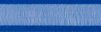 SR1206/2532 Organzalint met satijn rand 25mm 25mtr (32) royalblue