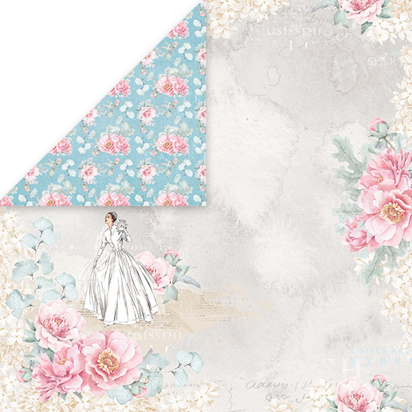 CP-PW01 PASTEL WEDDING Scrapbooking single paper 12x12, 200gsm