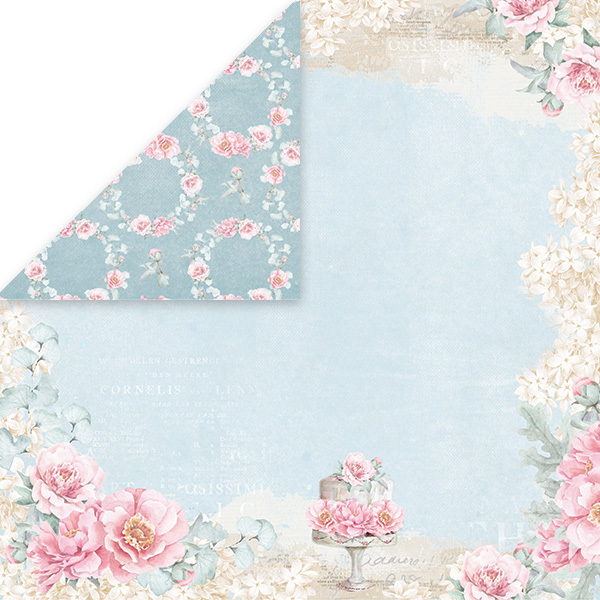 CP-PW02 PASTEL WEDDING Scrapbooking single paper 12x12, 200gsm